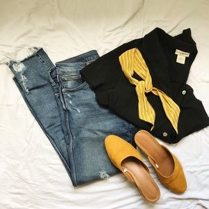 GAP Distressed Slim Straight Jeans